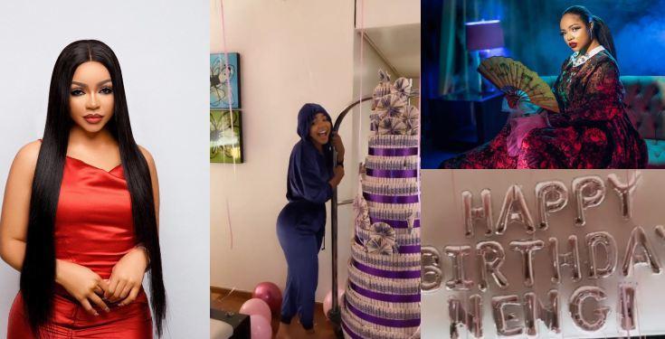 Nengi celebrates 23rd birthday with giant cake, stunning photos (Video)