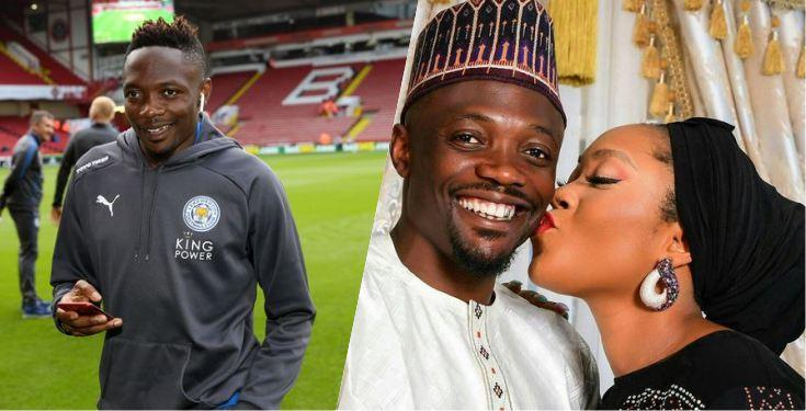 Super Eagles' Captain Ahmed Musa dragged over loved up pose with wife