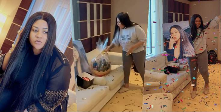 Actress Nkechi Blessing gets surprise gift in Dubai ahead of birthday (Video)