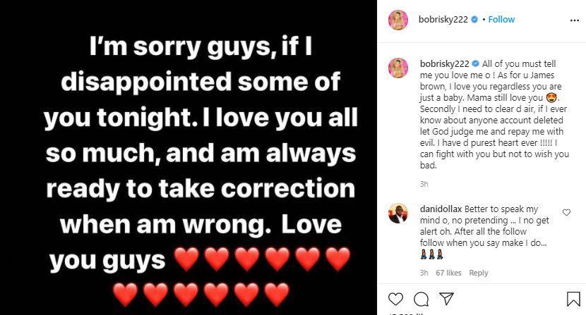 james brown instagram deleted suspended