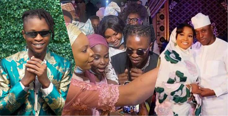 Icons react as Laycon performs at wedding of ex-speaker, Dimeji Bankole (Video)
