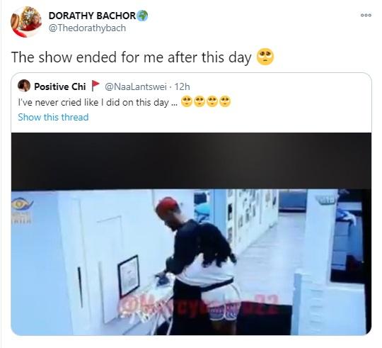 dorathy hug prince eviction from bbnaija