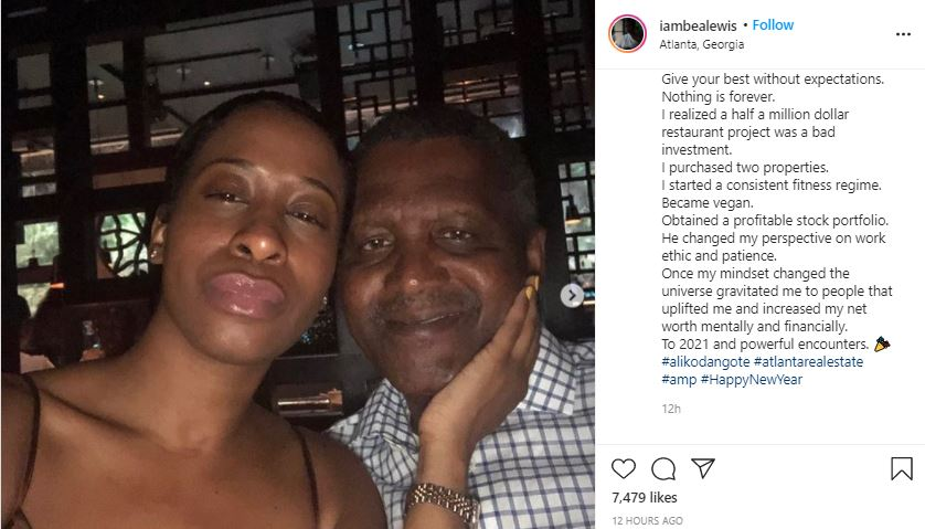 Side chick calls out billionaire, Aliko Dangote for dumping her