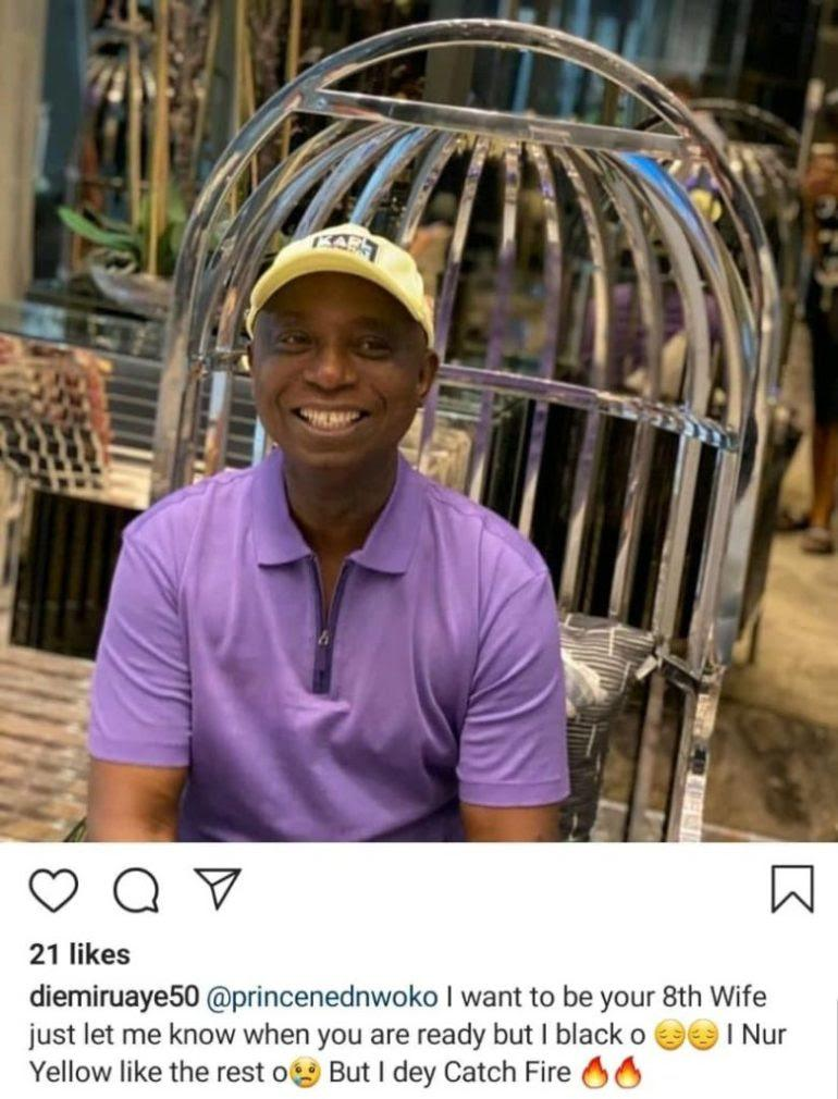 """I want to be your 8th wife"" - Lady pleads with billionaire, Ned Nwoko"