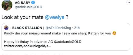 Adekunle Gold mocks BBNaija's Vee after getting birthday gift from fan
