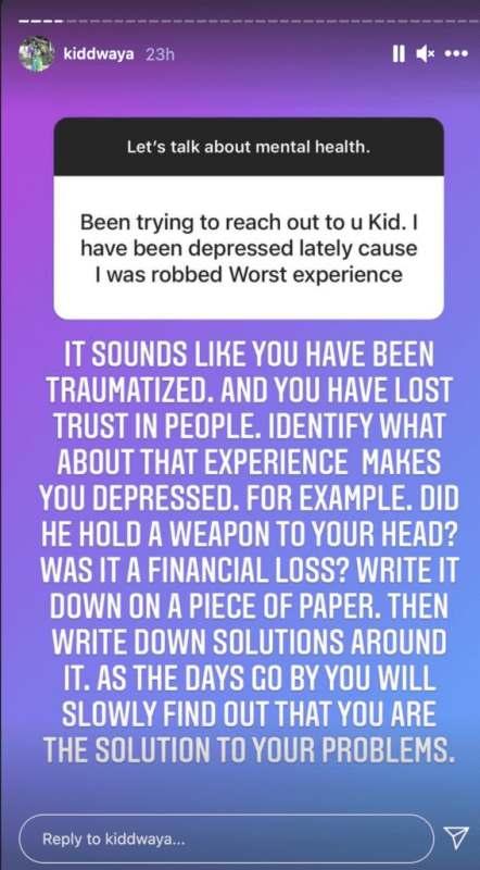 Kiddwaya humbles self, pens heartfelt note to depressed fan