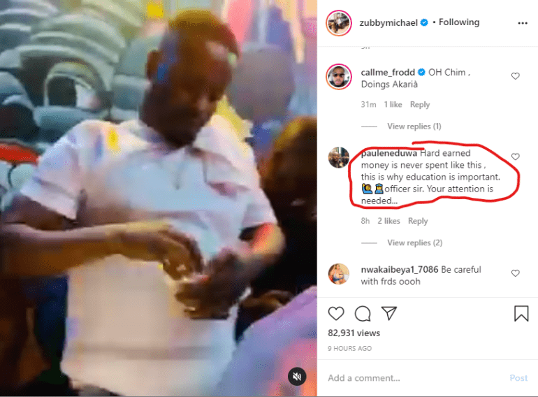 """Hard earned money is never spent like this"" - Man lectures Zubby Michael over lavish spending (Video)"
