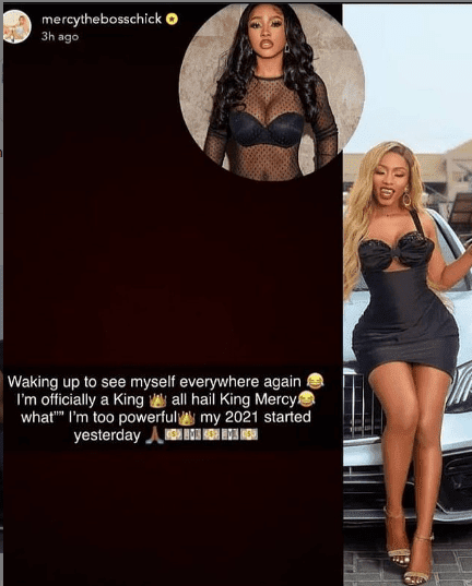 """You are typing in the nonsense again"" - Mercy Eke dragged for calling herself a powerful king"
