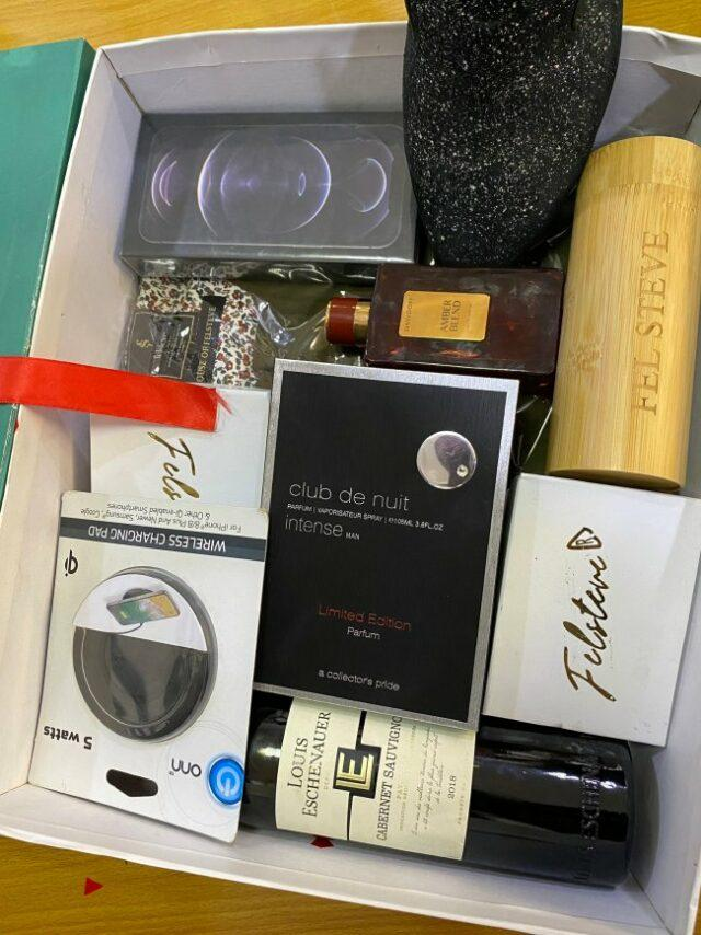 Man shows off gift box from babe containing iPhone 12, other items worth 856k ahead of Valentine