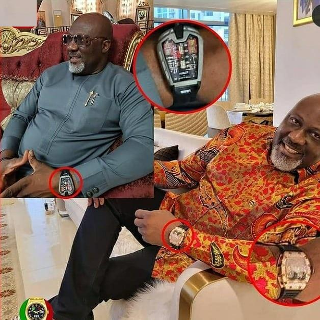 Dino Melaye dragged for showing off fake Hublot wristwatch