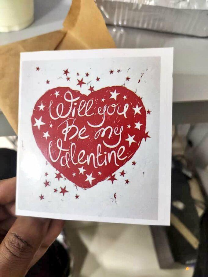 love note valentine