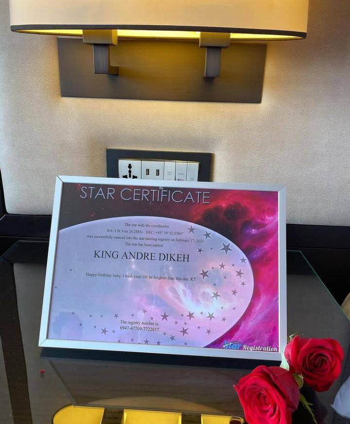 TOnto buys a star for her son