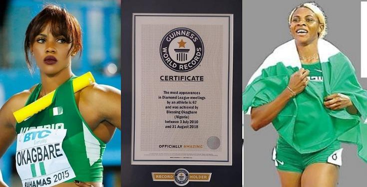 Nigerian athlete in Guinness Record