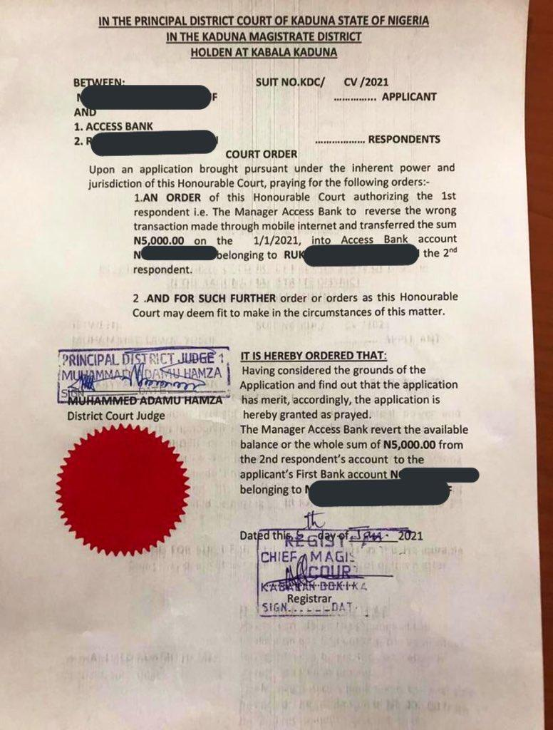 Man drags slay queen to court