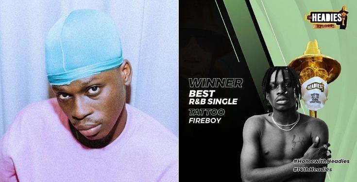 Fireboy emerges winner for the 'Best R&B single'