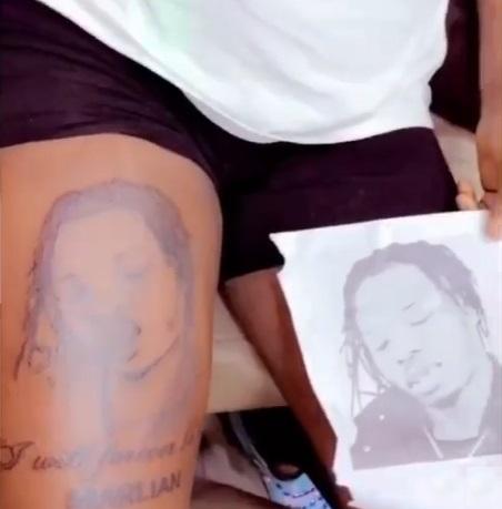 lady tattoo naira marley
