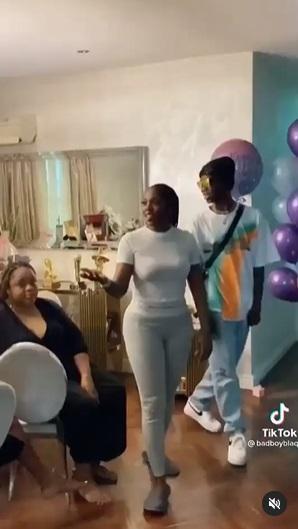 Singer BlaqBonez surprises Tiwa Savage with gifts on her birthday (Video)