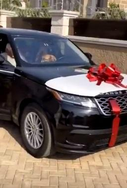 D'banj gifts wife brand new Range Rover Velar as Valentine gift (Video)