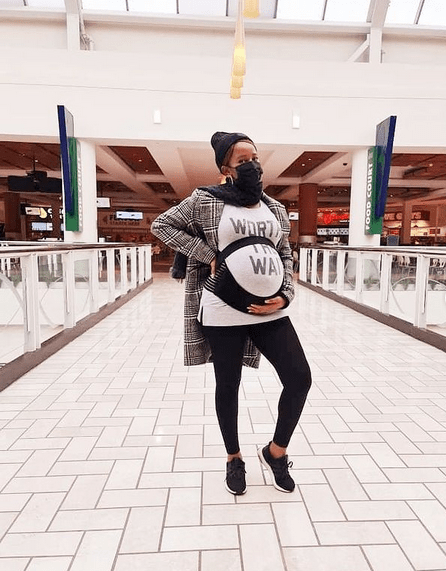 Adesua Shares Photos Of When She Was Pregnant and After Pregnancy