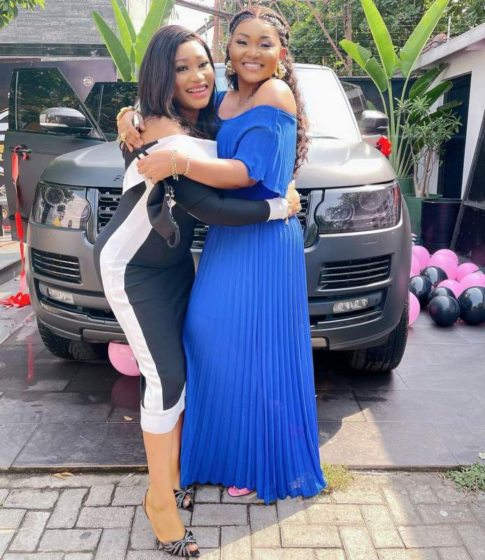 Mercy Aigbe gets brand new Range Rover as birthday gift (Video)