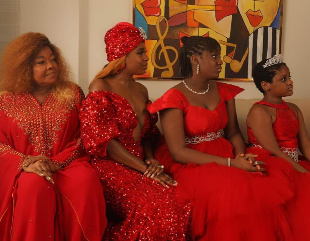 Annie Idibia Shares Stunning 3-Generations Photo With Mum, Daughters