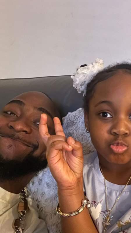 Davido reunites with 2nd daughter, Hailey in America (Video)