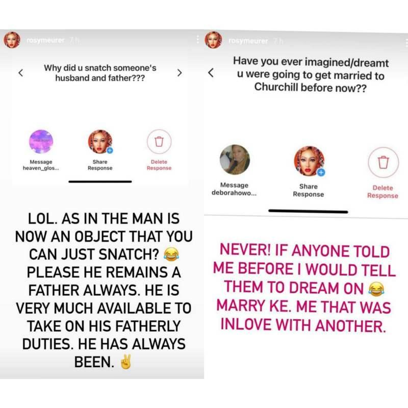 Rosy Meurer clears the air on breaking Tonto Dikeh's home