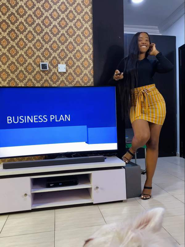 Lady whose husband asked to present business proposal shares update