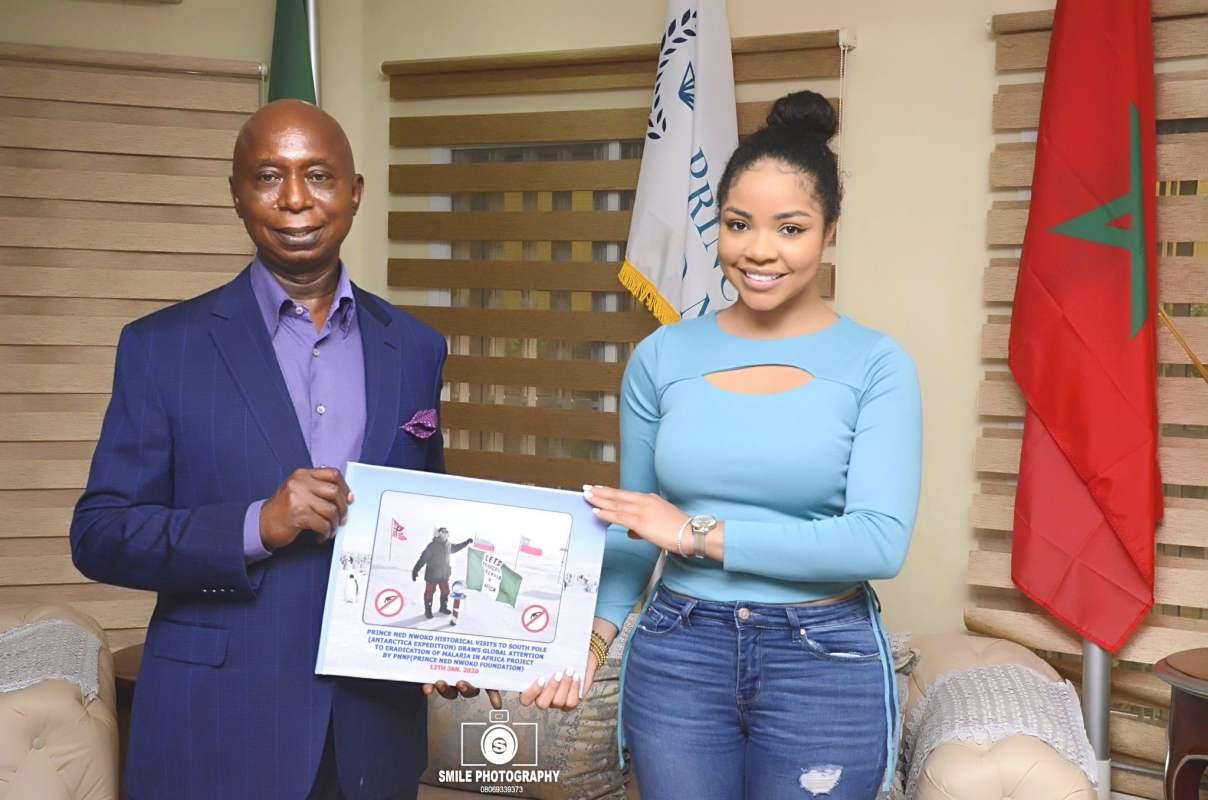 Nengi pays courtesy visit to Ned Nwoko, endorses malaria project