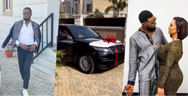 D'banj gifts wife brand new Range Rover Velar as Valentine gift (Video)