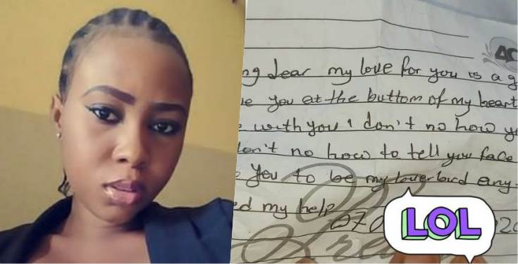 Lady shares love letter from teenager in her church asking her out