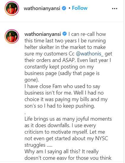 Wathoni pens touching story of life struggles before fame