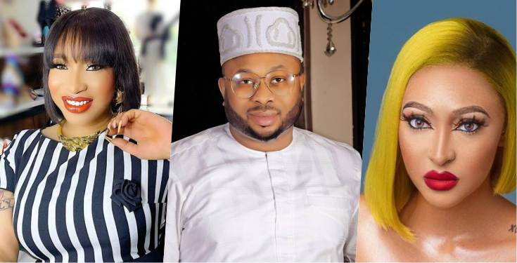 As Churchill introduces Rosy Meurer as his wife, old video where she denied Tonto Dikeh's accusation of sleeping with Churchill surfaces