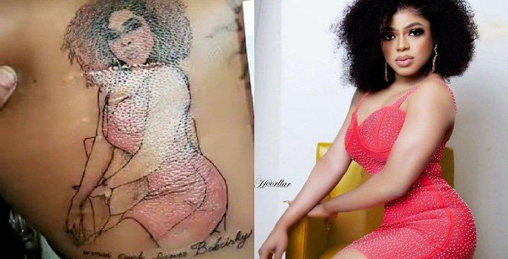 Fan draws tattoo of Bobrisky