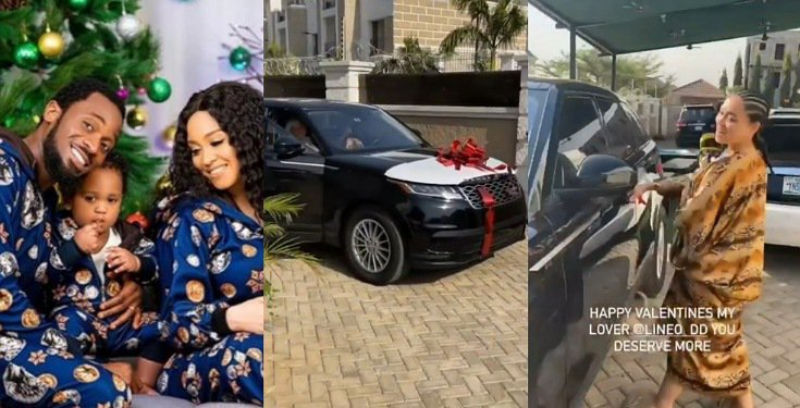 D'banj surprises his wife with Range Rover Velar as Valentine gift (Video)