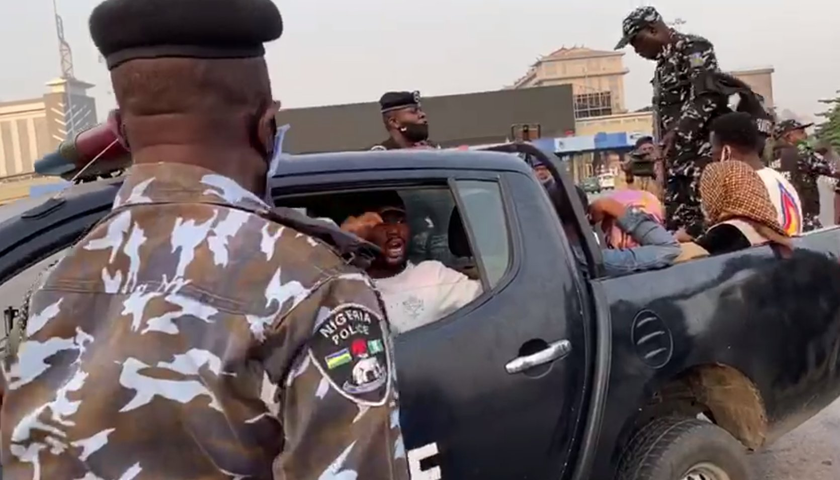 Macaroni and other protesters arrested