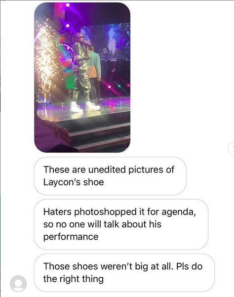 Laycon Shoe is photoshopped