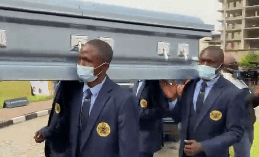 Peter Okoye's father in-law laid to rest amid tears and mourning