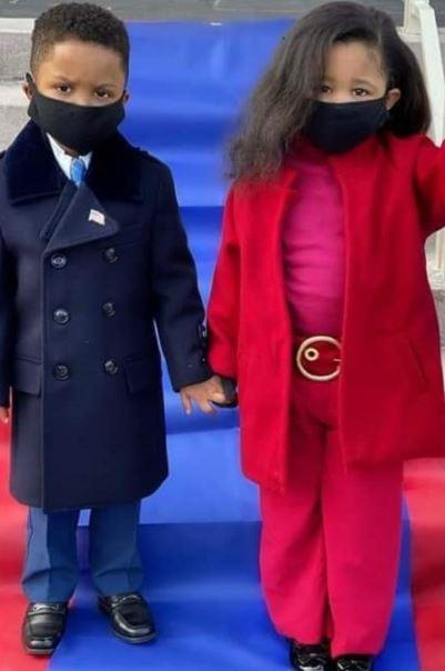 Obama and Michelle's inauguration outfits