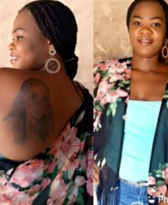 """""""My father has disowned me"""" - Lady with Bobrisky's tattoo laments (Video)"""