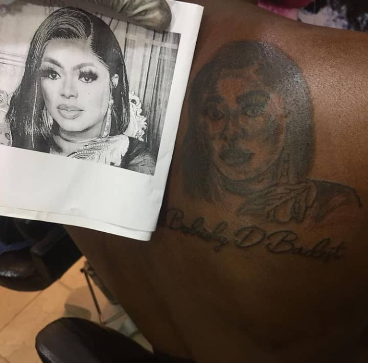 Man draws tattoo of Bobrisky