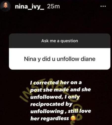 Nina Ivy opens up on sour friendship with BBNaija's Diane
