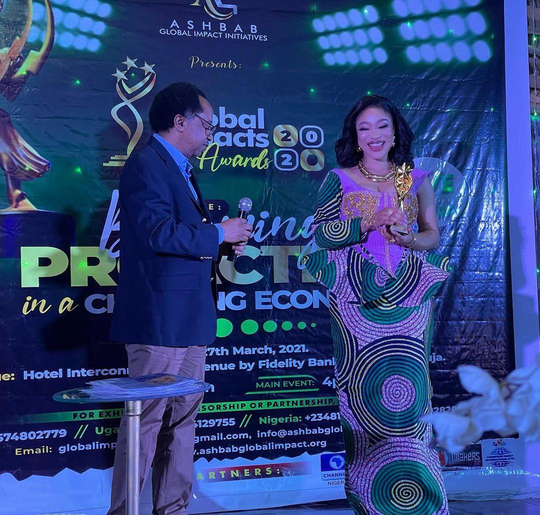 Tonto Dikeh Award Abuja