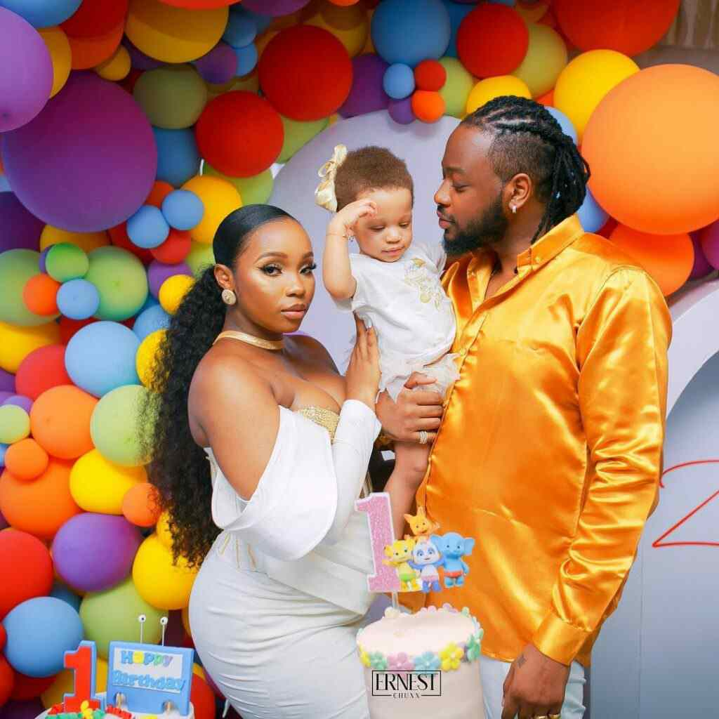 """""""Is she adopted"""" - Reactions as fans compare Bambam, Teddy A's complexion with daughter"""