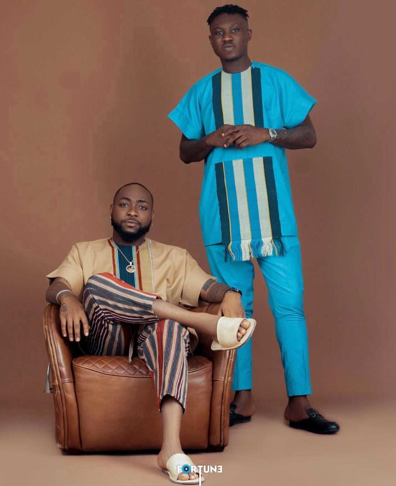 Davido and Zlatan Ibile dazzle as they rock native African attire (Photos)