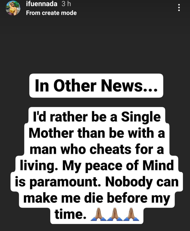 single mother Ifu Ennada