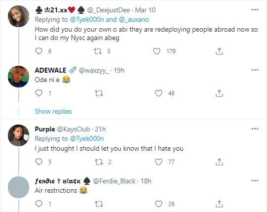 Reactions as man posts pictures of himself wearing NYSC uniform in snowy environment