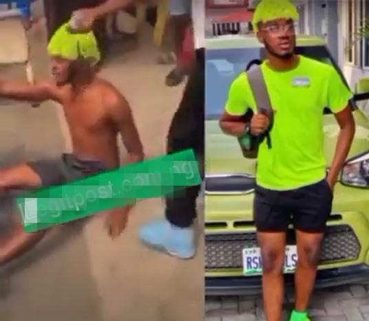 """I no fit kill my mama"" - Suspected yahoo boy cries out while running naked (Video)"