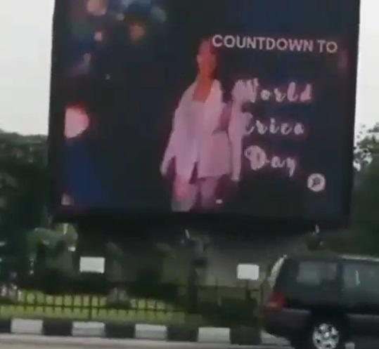Fan pays millions to advertise Erica's birthday on billboard in Lagos (Video)