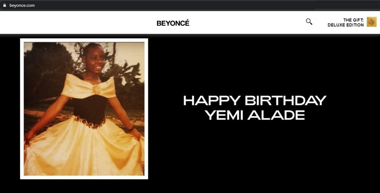 American singer, Beyonce celebrates Yemi Alade on her birthday with a throwback photo